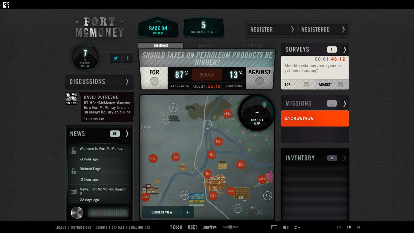Fort McMoney Dashboard