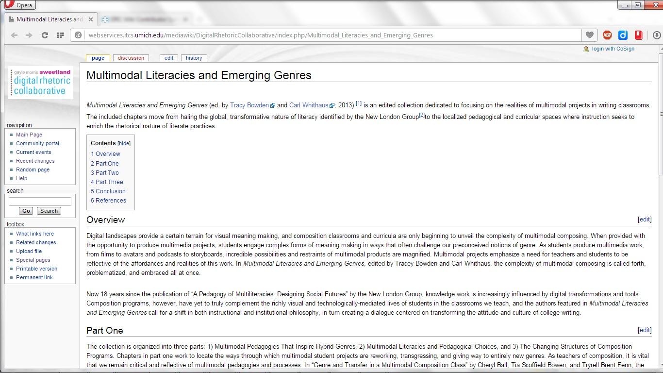 Multimodal Literacies Wiki