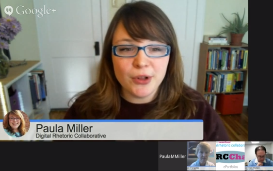 A Screen Capture Image from DRCchat on Air #2 Featuring Paula Miller in the Main Square