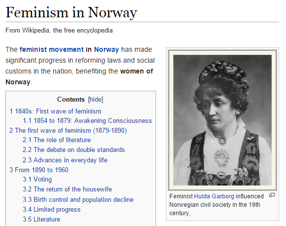 Feminism in Norway