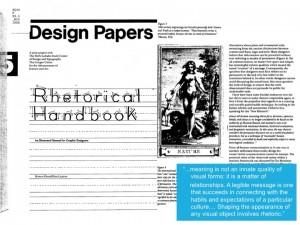 Design Papers: Rhetortical Handbook