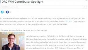 DRC Wiki Contributor Spotlight: Jack Hennes