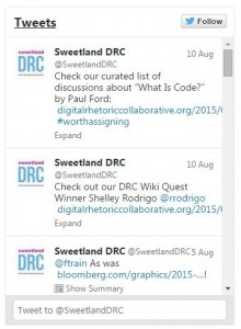 Sweetland DRC Twitter Feed