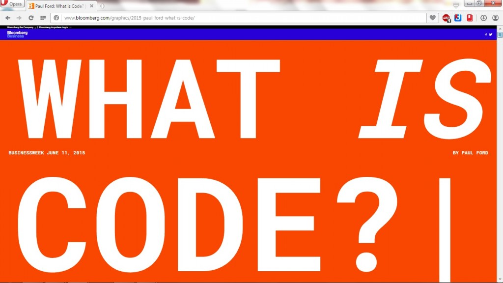 Screen Capture of What Is Code? Heading from the What is Code? article
