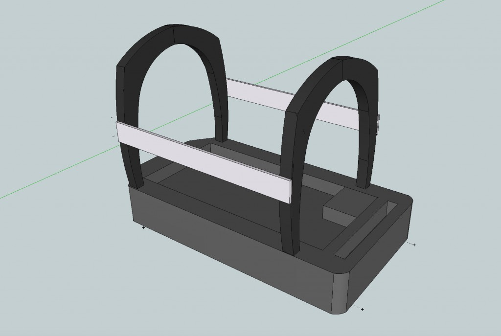 Figure 4: 3-D model of an optophone frame, by Victoria Murawski