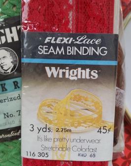 Photo of lace seam binding