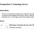 Surveys like this one can help instructors assess their students' levels of comfort with various technologies