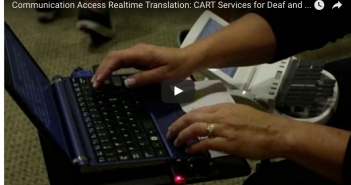 Screenshot of UW's informational video about new CART services