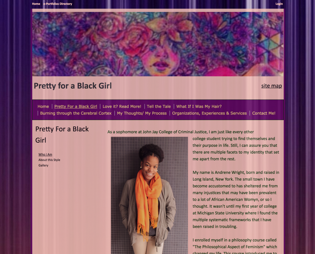 Pretty for a Black Girl Homepage