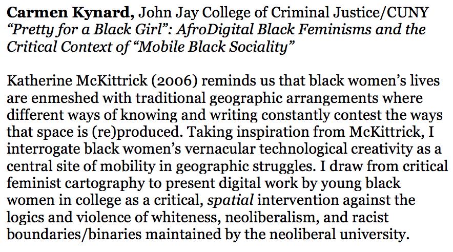 Kynard's Talk Description