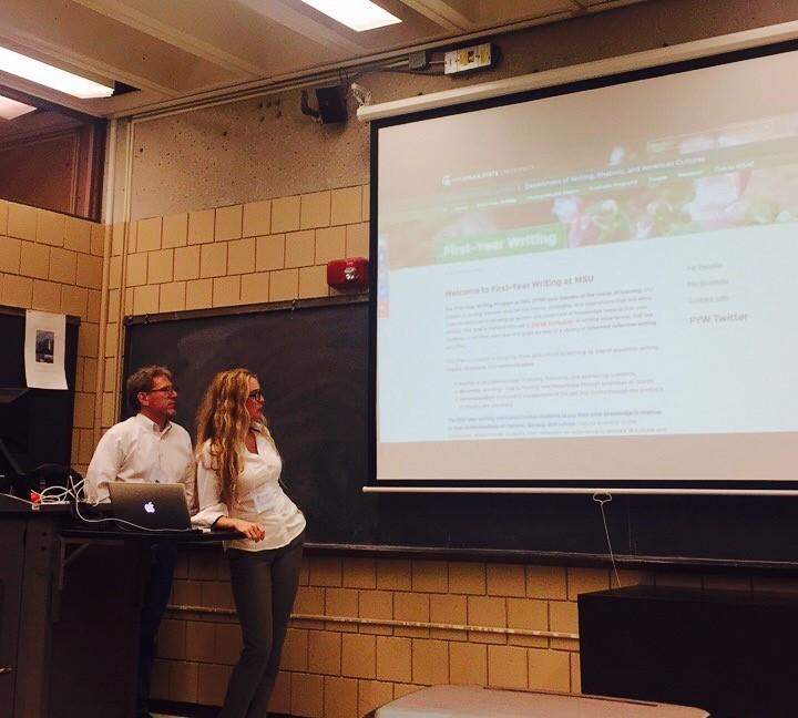 Halbritter & Lindquist introduce MSU's FYW Program