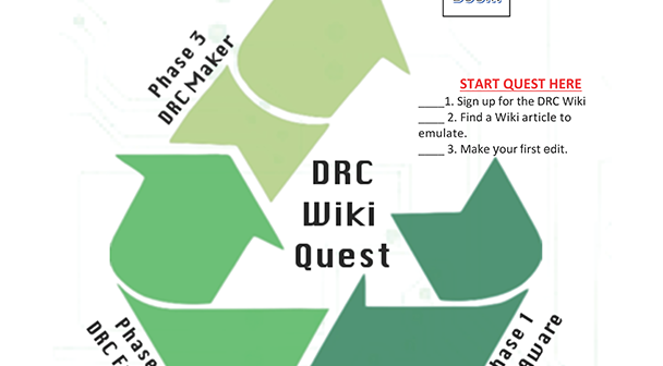 Image of Digital Rhetoric Collaborative WikiQuest game board.