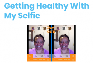"Day 1 of Sue Green's ""Getty Healthy with My Selfie"" campaign"