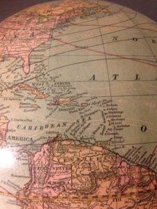 PR Caribbean Geography Globe
