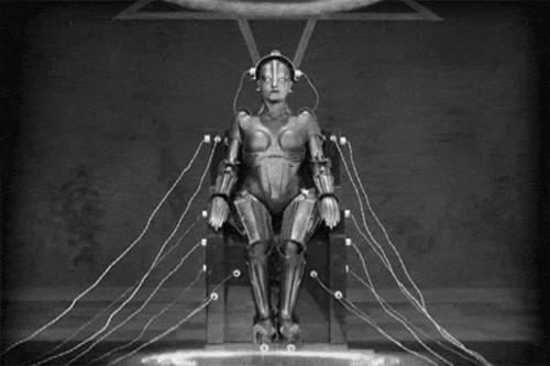 Image of Maria robot sitting.