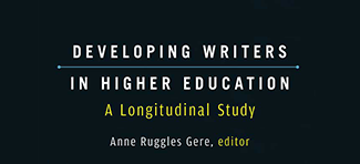 Developing Writers in Higher Education book cover