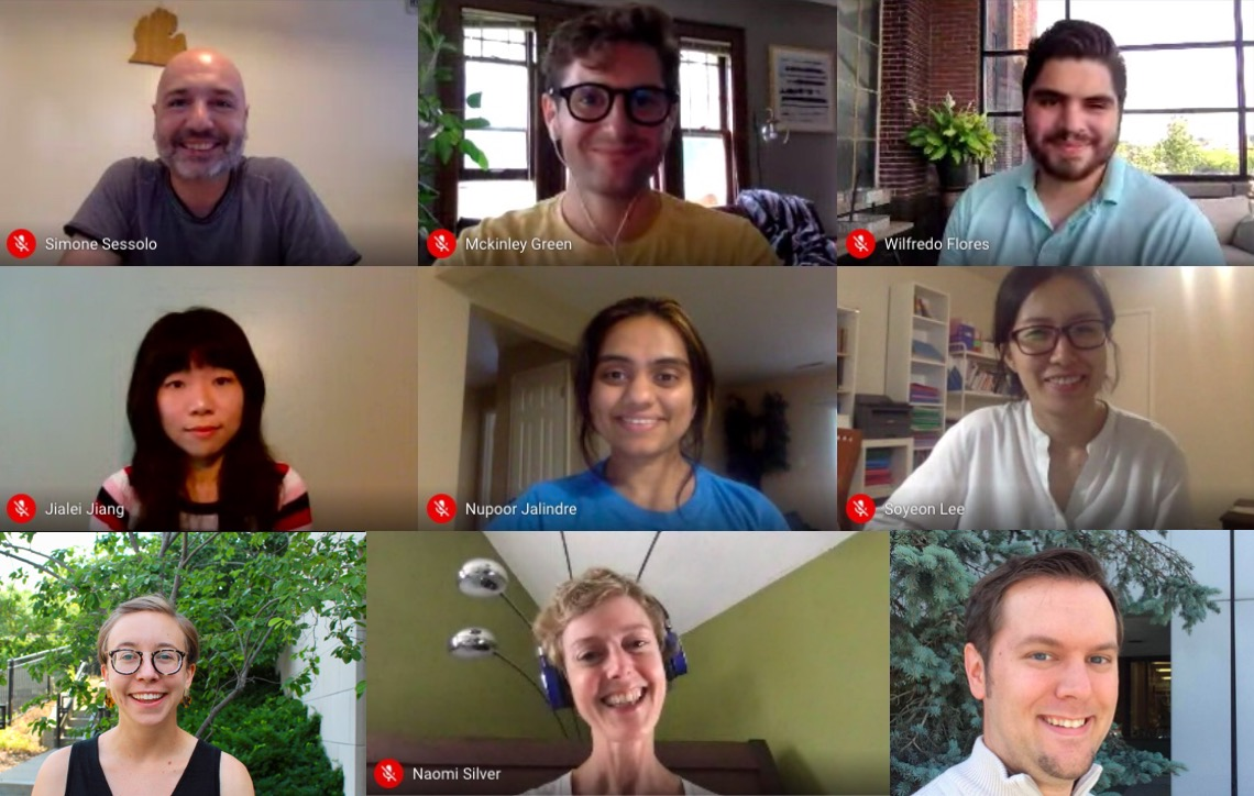 Screenshot of 2019-2020DRC Fellows' final virtual meeting